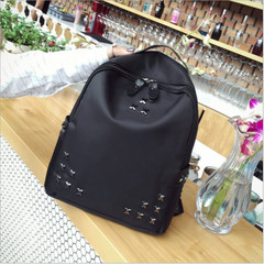 2019 New Women Casual Nylon Backpack Travel Bag Shoulder Bag School Backpacks black one size