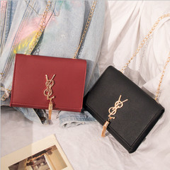 New Messenger Bag Small Chain Strap Shoulder Bags Clutch Bag Sling Shoulder Purse for Women black one size