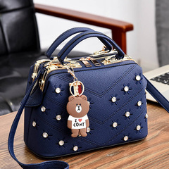 2019 New Women's Messenger Handbag Shoulder Bag Ladies Satchel Sling Bag Crossbody Chain Bags blue one size