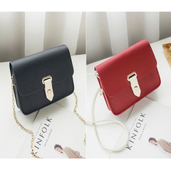 Women's PU Leather Chains Handbag Shoulder Party Evening Bag Clutch Bag Messenger Bag black one size