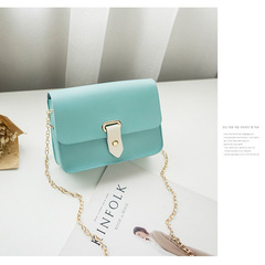 Women's PU Leather Chains Handbag Shoulder Party Evening Bag Clutch Bag Messenger Bag blue one size