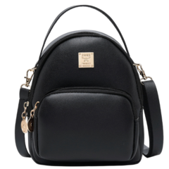 2019 New Fashion Casual Girl Backpack Women's Shoulders Bag Messenger Bag Ladies Backpack black 5.70 x 2.95 x 6.69inch​