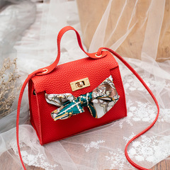 Elegant Women Handbags Cute Bowknot Bags Leather Shoulder Sling Bag Ladies Crossbody Bow Bags red one size