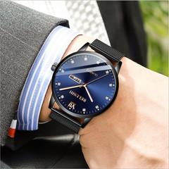 Men Fashion Luxury Luminous Waterproof Quartz Watches Analog Business Wristwatch Watches Gifts A one size