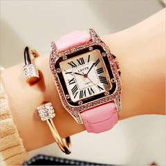 Fashion Leather Strap Watches Girls Analog Watch Casual Women Watch Dress Quartz Wristwatch Gifts pink one size