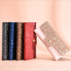 Fashion Women Evening Party Clutch Bag Sequins Sparkling Bling Wallet Purse Bag Sequins Wallet pink one size