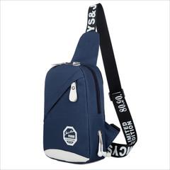 Men's Women's Nylon Sling Messenger Chest Bag Backpack Shoulder Travel Bag navy blue 26cm x 17cm x 8cm