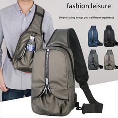 2019 Men's Oxford Cloth Cross Body Messenger Sling Shoulder Pack Chest Bag for Traveling/Hiking bronze 30cm x 18cm x 10cm