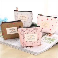 Womens Girls Retro Canvas Coin Purse Ladies Zipper Wallet Mini Coin Key Small Handbag Clutch Case pink one size