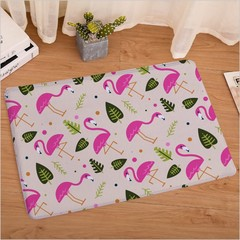 Flamingo Printed Bathroom Kitchen Anti-Slip Floor Mats Living Room Bedroom Flannel Carpet h 40cm x 60cm