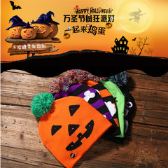 1Pcs Halloween Glowing Knit Cap Child Adult Hat Party Supplies Pumpkin Ghost Printed Caps pumpkin