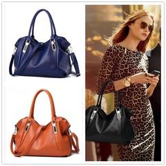 2019 New Women's Bag Shoulder Bags Ladies Casual Bag Soft PU Leather Messenger Bag Shoulder Bags black 37cm x 16cm x 23cm