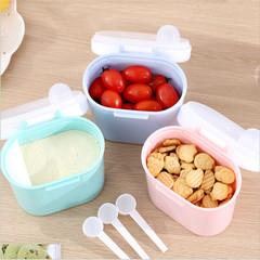 2019 Baby Portable Milk Powder Box, Large-capacity Storage Tank, Baby Rice Noodle Box pink 13.3*14.3*7.5cm