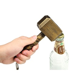 Creative Wine Bottle Opener Hammer Retro Hammer Opener Sounding Beer Bottle Opener gold 16.5x7x4.7cm