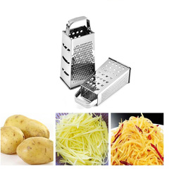 Multi-function Kitchen Craft Four Sided Cutter Stainless Steel Grater Tool Home Slicer Cutter Peeler s as picture