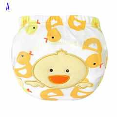 Cute Kids Cotton Underwear Training Pants Toilet Potty Baby Cloth Diaper Cover A L