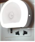 Led light emitting dual USB charger white big