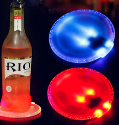 Luminous cup mat