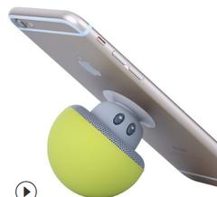 Mobile phone stand speaker yellow model
