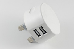 Round socket white small