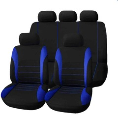 9PCS Set Full Car Seat Covers for Crossovers Sedans Auto Universal Car Interior Styling Decoration blue 9pcs