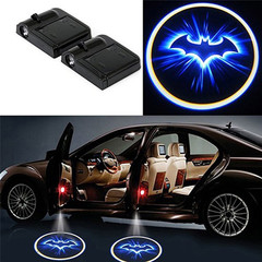 2 PCS Wireless Car Bat Logo Door Decor LED Light Welcome Laser Projector Lamp Interior Accessories