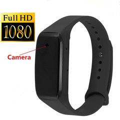 HD 1080P K18 Hidden Mini Camcorder Smart Bracelet 14.2 Million Pixels Lens Mini Spy Camera Micro Cam black one size
