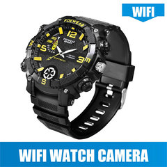 1080P Sports Smart Watch with Hidden Camera 5 Million HD Waterproof Spy Camera WiFi Remote Recording black(without WIFI) 16G memory
