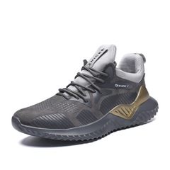 2019 YEGO Alpha Ninja yeezy low Running shoes Sports Shoes grey+golden 46