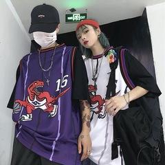 Old School Style NBA Toronto Raptors OG Retro purple&white Men&Women Vest Jersey M purple