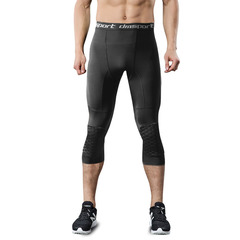 Outdoor sports men's fitness pants beehive anti - collision knee new sports anti - collision pants black s