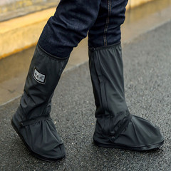 Creative waterproof motorcycle bicycle rain boots shoes waterproof cover thick raincoat shoes black s