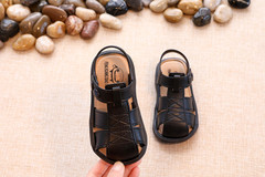 Summer children's shoes baby sandal children's non-slip sandal toddler shoes children's beach shoes black 25
