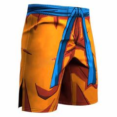 Dragon ball shorts running men's fast drying basketball sweat training high stretch workout pants orange 3xl