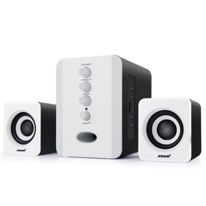 Mini Home Theater Sound System Bluetooth Speaker Subwoofer And FM Radio white 3w 801