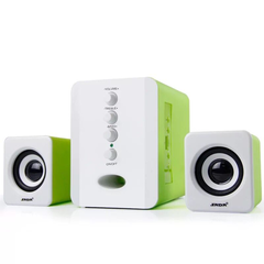 Mini Home Theater Sound System Bluetooth Speaker Subwoofer And FM Radio green 3w 801
