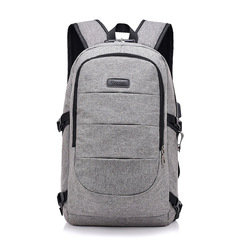 FH Brand 17-Inch Bags Business Laptop Backpack,Waterproof USB Charging Port & Headphone interface gray 17-inch