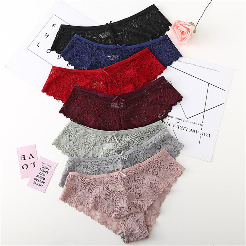 6pcs Sexy Lace Panties Women Lingerie Tempting Pretty Briefs Cotton ... 82936c563