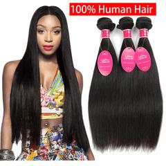 100% Human Virgin Hair Straight  Wigs 8-26 Inch Natural Color Women Hair Wigs natural color 8 inch