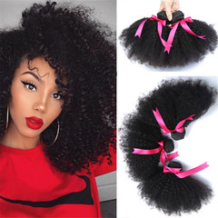 Short Human Hair Afro Kinky Curly Wigs For Black Women 8-20 Inch Brazilian Hair Wigs natural color 8 inch