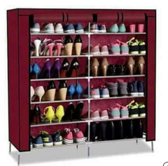 Portable Shoe Rack - maroon