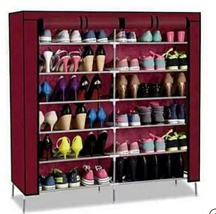 Portable Shoe Rack - maroon