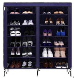 Portable Shoe Rack - blue