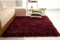 Fluffy Soft and Tender Carpet - Maroon 7*10