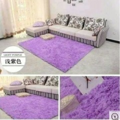 Fluffy Soft and Tender Carpet - Purple 7*10