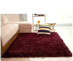 Fluffy Soft and Tender Carpet - Maroon 7*10 maroon 7*10