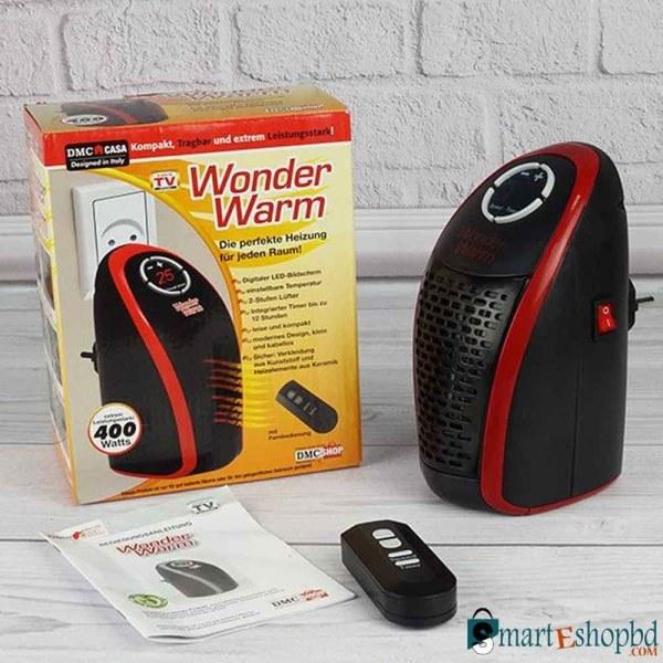 Wonder Warm Room Heater House/ Office Warmer Heater Black
