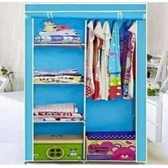 2 Columns Portable Wardrobe Blue
