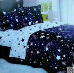 4 Pcs of Duvet Set ( 1 Duvet, 2 Pillow cases and 1 Bed-sheet ) multicolours 4*6
