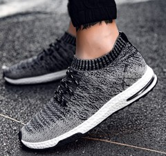 New Man Sport Sneakers Breathable Male Outdoor Walking Sport Shoes Mens Running Shoes black 42